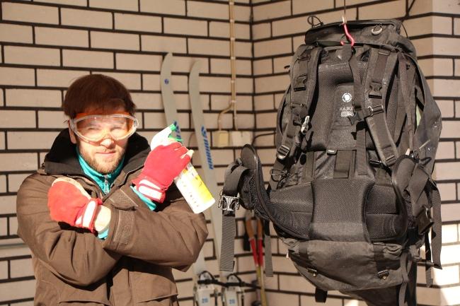 Timon tyylinäyte ötököiden häädöstä. All bugs will stay away from my backpack with Biokill handling.