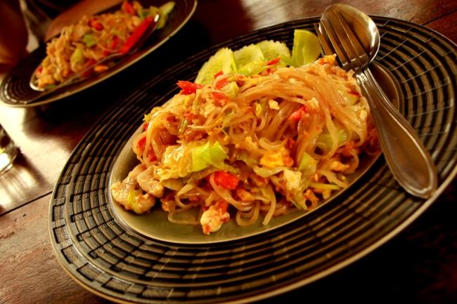 Pad thai, mutta myös muukin ruoka, oli aivan älyttömän hyvää. Food was really good!