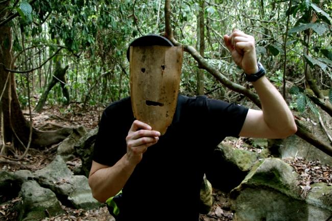 Tällainen bambuhirviö tuli myös viidakossa vastaan. The scarest thing in the jungle.