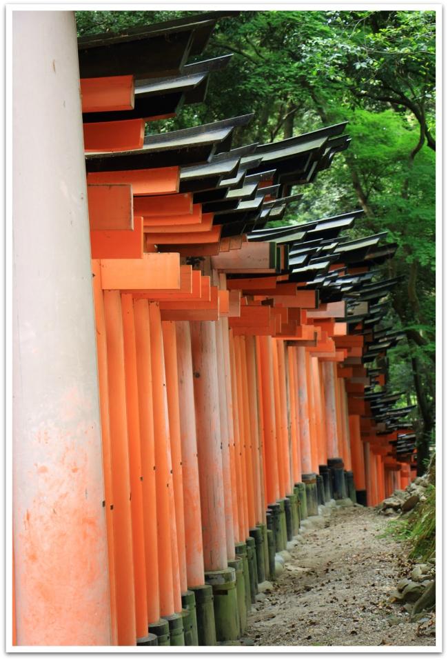Fushimi Inarin tuhannet portit ovat liikemiesten lahjoittamia. Toivottavasti portin lahjoittaminen on tuonut menestystä liiketoimiin.