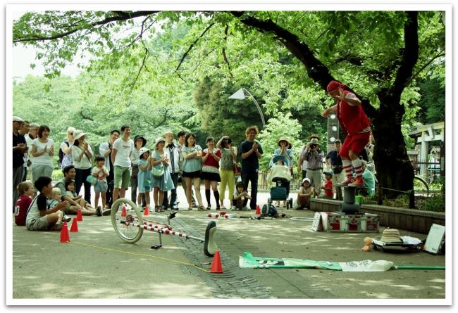Uenon puistossa törmäsimme japanilaiseen pelleen.