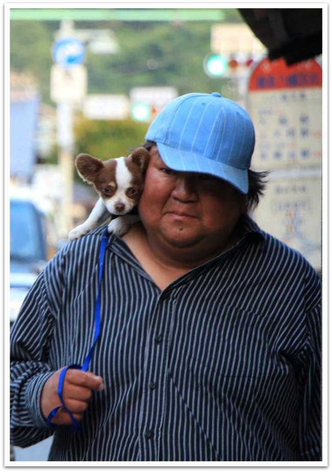 Tämä suloinen parivaljakko tuli vastaan Japanissa, Kamakurassa.