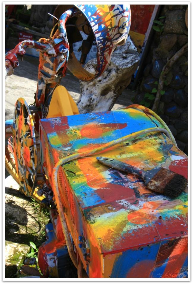 Ubudissa taidetta oli joka paikassa.