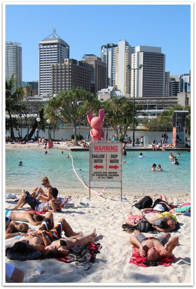 Brisbanessa uimaranta oli aivan ytimessä, Southbankissa
