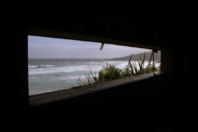 Ei näkynyt pingviinejä, ainoastaan meren möyrintää.