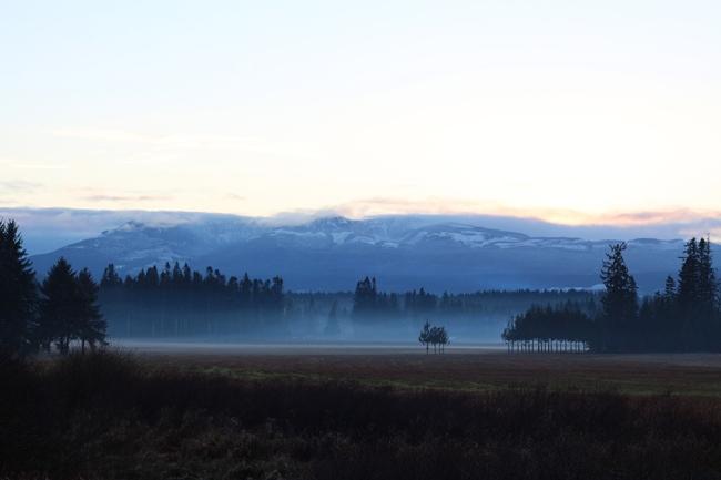 Ja paluumatkalla oli mainiot maisemat. Takana näkyy Mt Washington.
