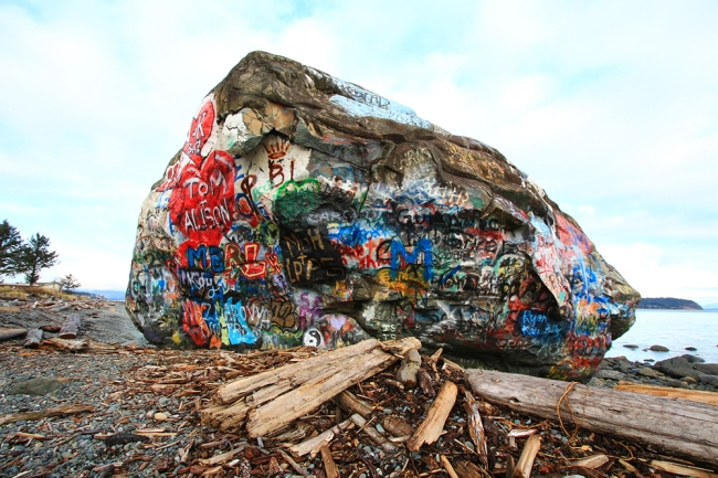 The Big Rock. Mystinen nähtävyys tien varrella...