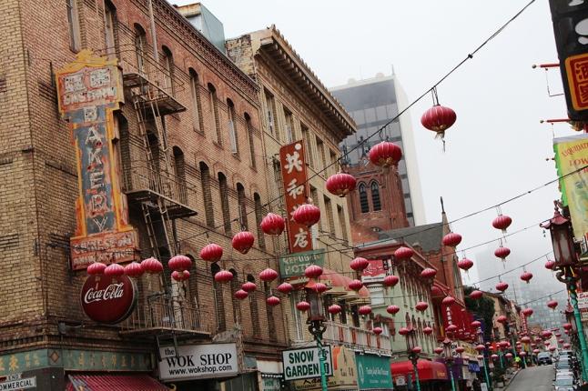 Maailman suurin Chinatown sijaitsee San Franciscossa.